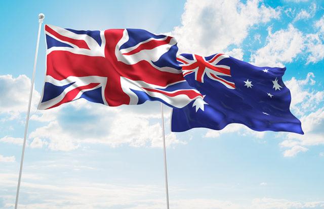 Australia and UK