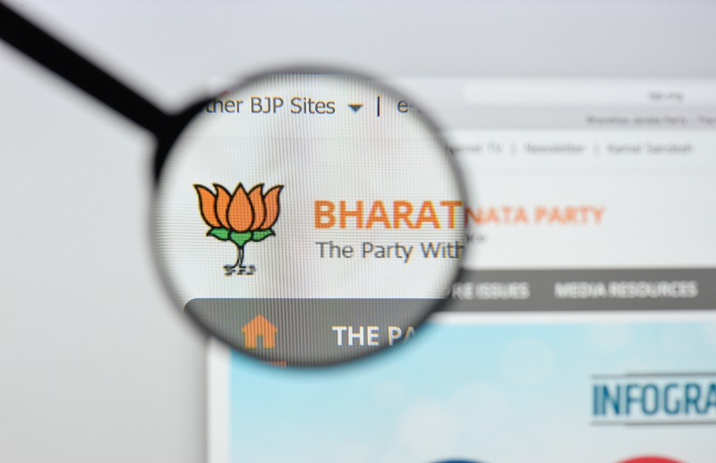 Website of BJP, India's ruling party, hacked