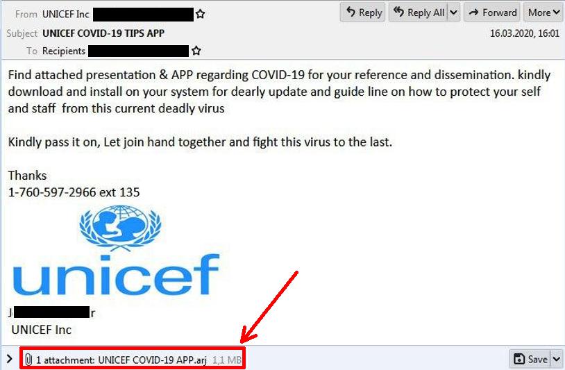 phishing email, covid-19 phishing campaign